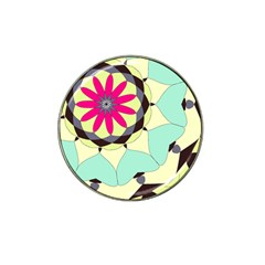 Pink Flower Hat Clip Ball Marker