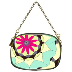 Pink Flower Chain Purses (one Side)