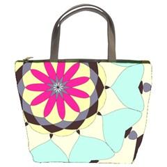 Pink Flower Bucket Bags