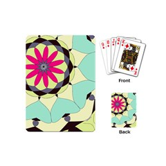 Pink Flower Playing Cards (mini)