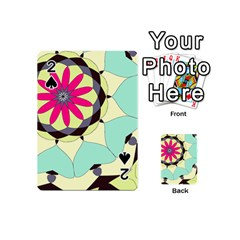 Pink Flower Playing Cards 54 (mini)