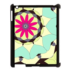 Pink Flower Apple Ipad 3/4 Case (black)