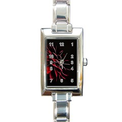 Pattern Design Abstract Background Rectangle Italian Charm Watch