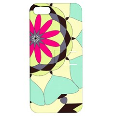 Pink Flower Apple Iphone 5 Hardshell Case With Stand