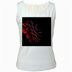 Pattern Design Abstract Background Women s White Tank Top