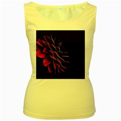Pattern Design Abstract Background Women s Yellow Tank Top