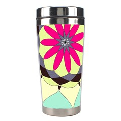 Pink Flower Stainless Steel Travel Tumblers