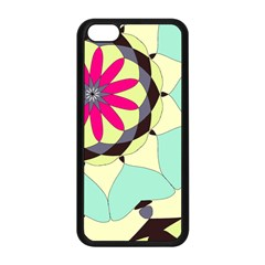 Pink Flower Apple iPhone 5C Seamless Case (Black)