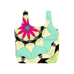 Pink Flower Full Print Recycle Bags (S)