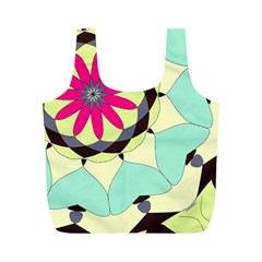Pink Flower Full Print Recycle Bags (M)