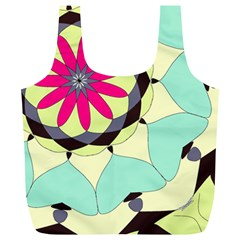 Pink Flower Full Print Recycle Bags (L)