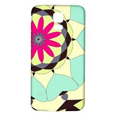 Pink Flower Samsung Galaxy S5 Back Case (white)