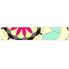 Pink Flower Flano Scarf (large)