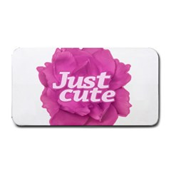Just Cute Text Over Pink Rose Medium Bar Mats