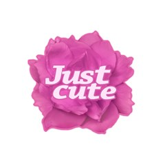 Just Cute Text Over Pink Rose 5.5  x 8.5  Notebooks