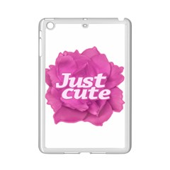 Just Cute Text Over Pink Rose iPad Mini 2 Enamel Coated Cases