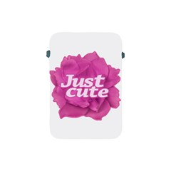 Just Cute Text Over Pink Rose Apple iPad Mini Protective Soft Cases