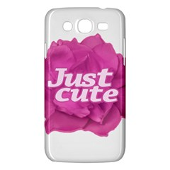 Just Cute Text Over Pink Rose Samsung Galaxy Mega 5.8 I9152 Hardshell Case