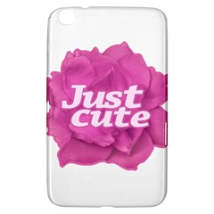 Just Cute Text Over Pink Rose Samsung Galaxy Tab 3 (8 ) T3100 Hardshell Case