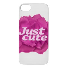 Just Cute Text Over Pink Rose Apple iPhone 5S/ SE Hardshell Case
