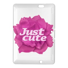 Just Cute Text Over Pink Rose Kindle Fire HDX 8.9  Hardshell Case