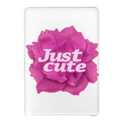 Just Cute Text Over Pink Rose Samsung Galaxy Tab Pro 10 1 Hardshell Case