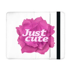 Just Cute Text Over Pink Rose Samsung Galaxy Tab Pro 8.4  Flip Case