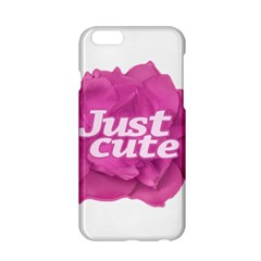 Just Cute Text Over Pink Rose Apple iPhone 6/6S Hardshell Case