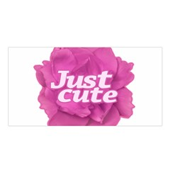 Just Cute Text Over Pink Rose Satin Shawl