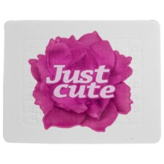Just Cute Text Over Pink Rose Jigsaw Puzzle Photo Stand (Rectangular)