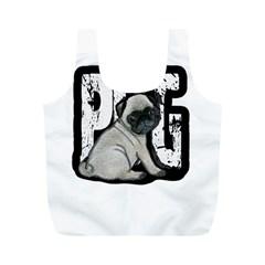 Pug Full Print Recycle Bags (M)