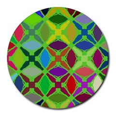 Abstract Pattern Background Design Round Mousepads