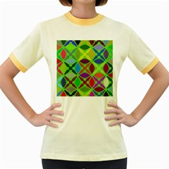 Abstract Pattern Background Design Women s Fitted Ringer T Shirts