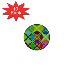 Abstract Pattern Background Design 1  Mini Buttons (10 Pack)