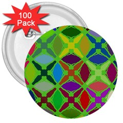 Abstract Pattern Background Design 3  Buttons (100 pack)