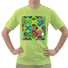 Abstract Pattern Background Design Green T-Shirt
