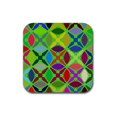 Abstract Pattern Background Design Rubber Square Coaster (4 pack)
