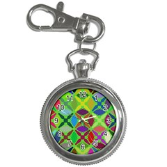 Abstract Pattern Background Design Key Chain Watches