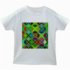 Abstract Pattern Background Design Kids White T Shirts