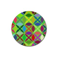 Abstract Pattern Background Design Magnet 3  (Round)