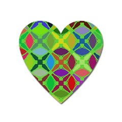 Abstract Pattern Background Design Heart Magnet