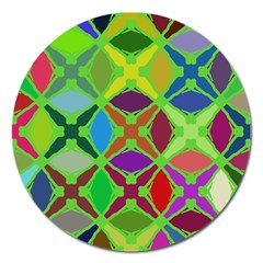 Abstract Pattern Background Design Magnet 5  (round)