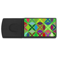 Abstract Pattern Background Design USB Flash Drive Rectangular (1 GB)