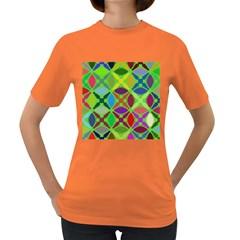 Abstract Pattern Background Design Women s Dark T-Shirt