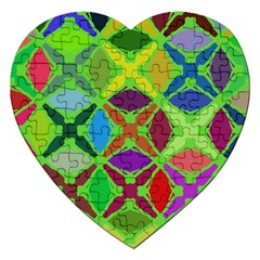 Abstract Pattern Background Design Jigsaw Puzzle (heart)