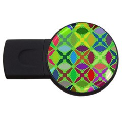 Abstract Pattern Background Design USB Flash Drive Round (4 GB)