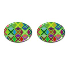 Abstract Pattern Background Design Cufflinks (oval)