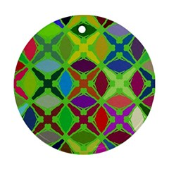 Abstract Pattern Background Design Round Ornament (two Sides)