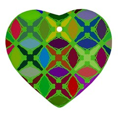 Abstract Pattern Background Design Heart Ornament (Two Sides)