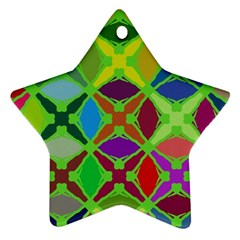Abstract Pattern Background Design Star Ornament (Two Sides)